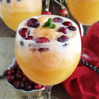 Orange Cranberry Mimosa Floats