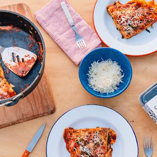 Dutch Oven Campfire Lasagna.