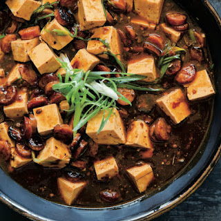 Mapo Tofu With Crispy Chinese Sausage.