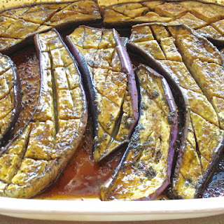 Marinated and Microwaved Asian Eggplant