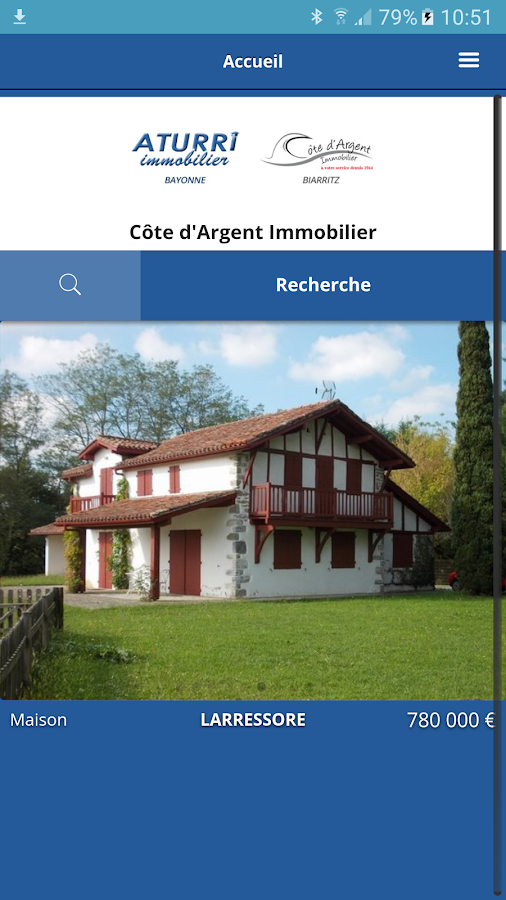 Agence immobiliere biarritz android apps on google play for Agence immobiliere 5 cantons anglet