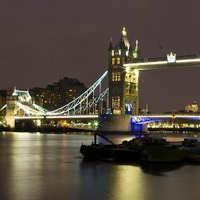 Tower bridge by Anz Defensor - Buildings & Architecture Bridges & Suspended Structures ( night, bridge, city )