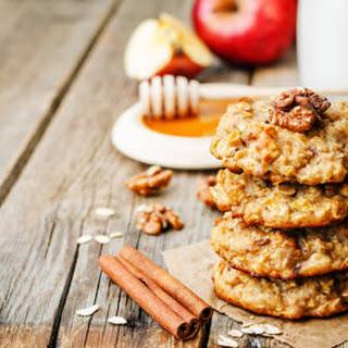 No Bake Cinnamon Walnut Oat Cookies Recipe