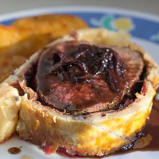 Beef Wellington with Red Wine & Shallot Sauce (Gordon Ramsay).
