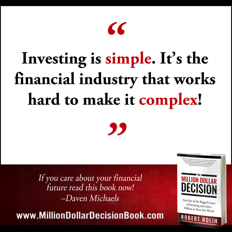 The Million Dollar Decison Quote Investing is simple