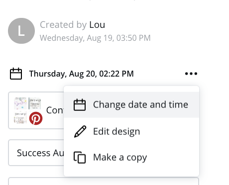 change date and time in canva scheduler