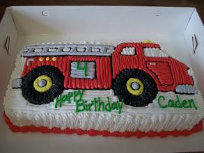 Photo: Firetruck Shaped Cake