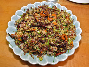 Photo: crispy shredded duck and lemon grass salad with cashews