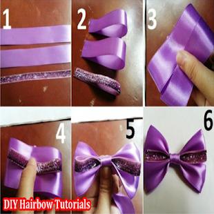 DIY Tutorial Hairbow - náhled