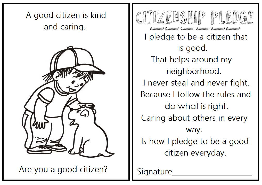 Home school Work Resoure: GOOD CITIZENSHIP COLORING BOOK