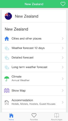 新西蘭天氣,旅行