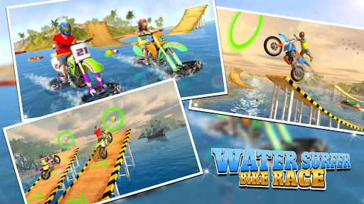 Water Surfer Motorbike Stunts