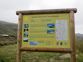 Photo: The info on on walk from Tices down to Canjayar