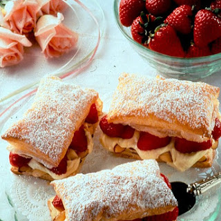 Strawberry-Almond Cream Napoleons