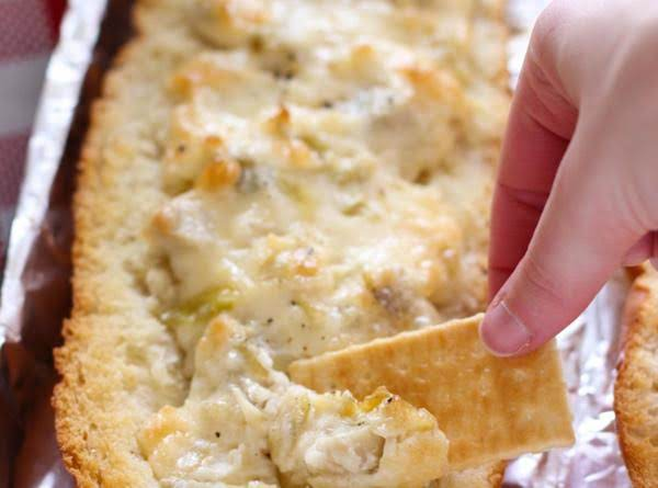 Easy Cheesy Artichoke Dip In A Baguette Recipe