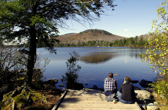 Photo: Relaxing next to Kettle Pond in the Groton State Forest