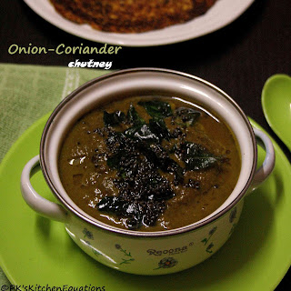 Onion-coriander Chutney (for Idly/dosa)