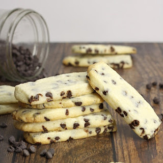 Chocolate Chip Shortbread Cookie Dippers.