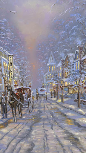 Painting Christmas streets.LWP