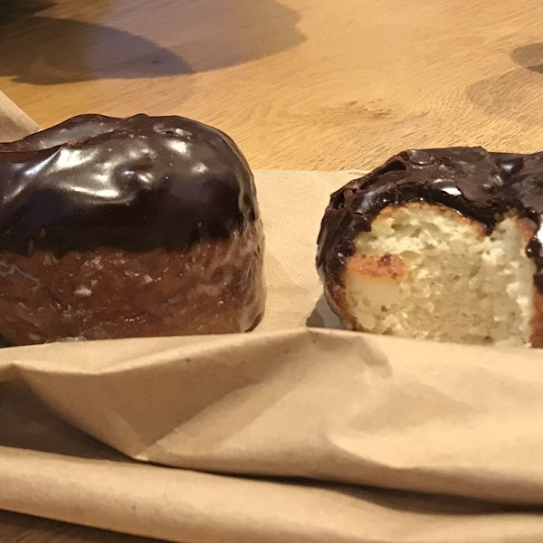 Chocolate glazed donuts, couldn't tell they were gluten free!