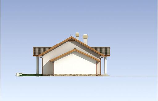 Madzia wersja B z pojedynczym garażem - Elewacja lewa