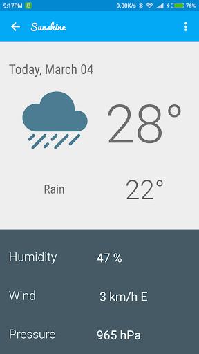 免費下載天氣APP|Sunshine - Weather app開箱文|APP開箱王