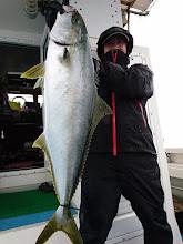 Photo: ナイスサイズ!ヒラス6.4kgでしたー!