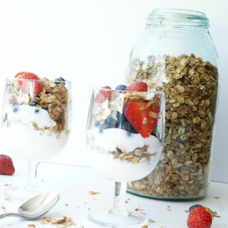 Homemade Granola and Yogurt Parfait with Fresh Fruit