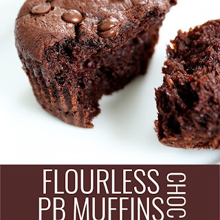 Flourless Chocolate Peanut Butter Muffins