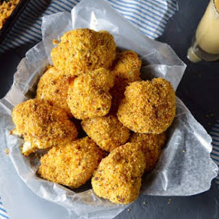 Cauliflower Poppers with Honey Mustard Dipping Sauce.