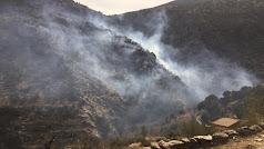 Zona del incendio, en una imagen del Infoca.