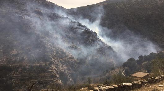 Estabilizado el incendio declarado en el Barranco de Lotrines en Abrucena