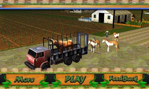 运输卡车:农场动物