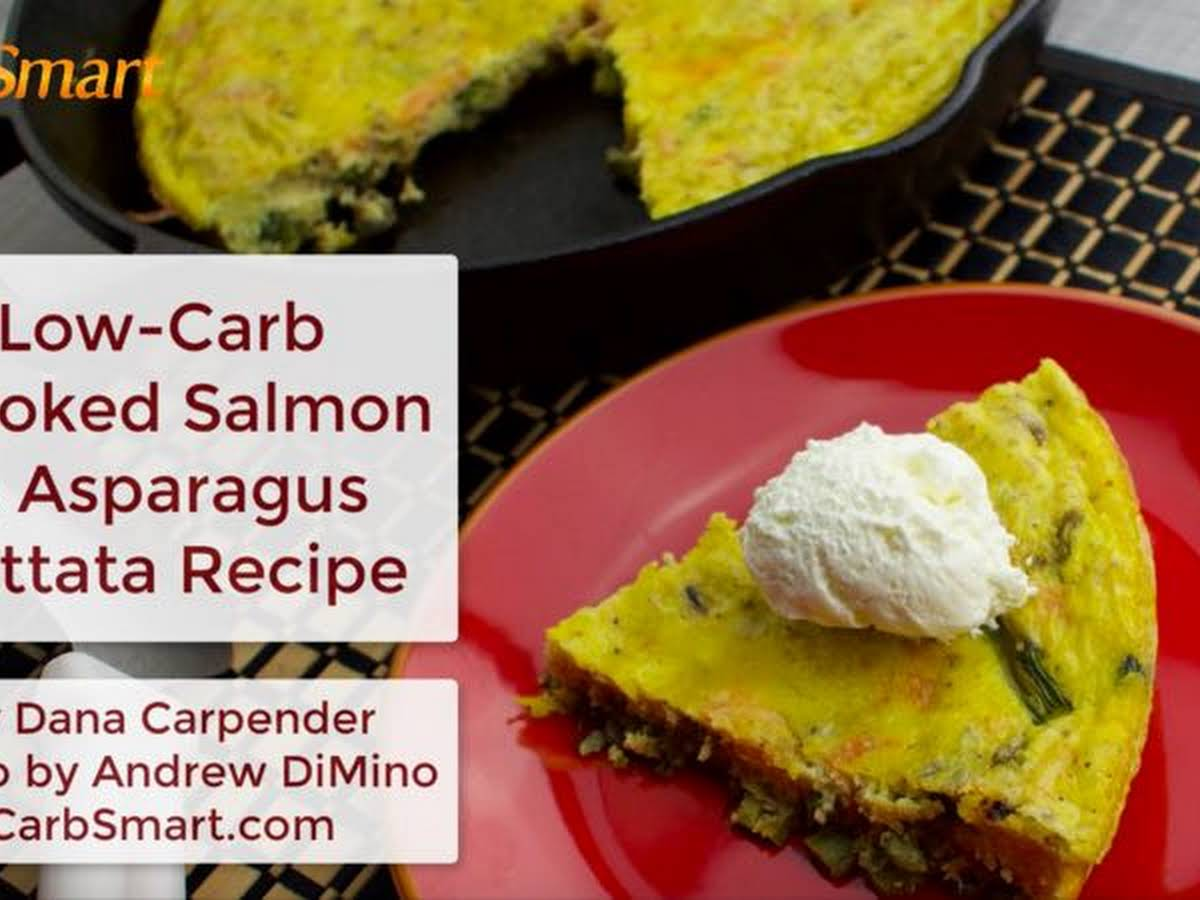 Low Carb Smoked Salmon And Asparagus Frittata