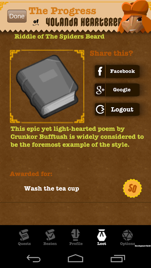 EpicWin - RPG style to-do list- screenshot