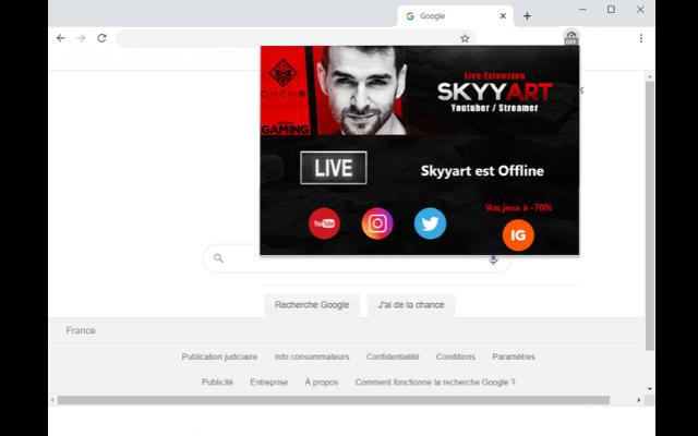 Skyyart Extension Live