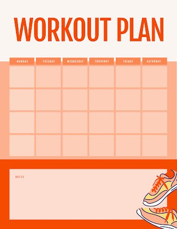 Cubed Workouts - Weekly Planner template