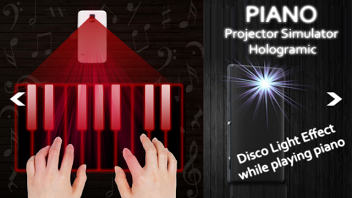 Piano Projector Simulator Real