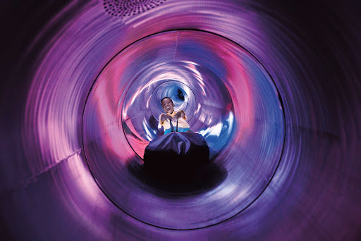 You'll get a thrill from the 100-foot drop inside the Ultimate Abyss on Harmony of the Seas.