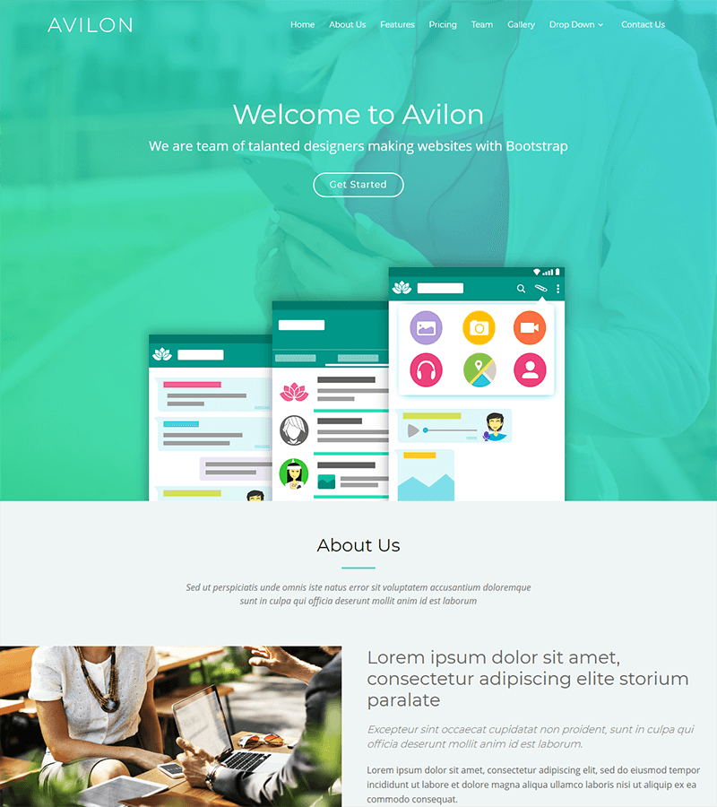 Avilon Bootstrap Landing Page Template | BootstrapMade