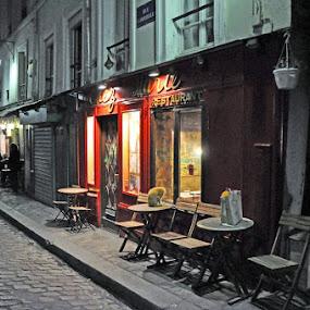 Evening in Paris by Rosita Ramner - City,  Street & Park  Street Scenes