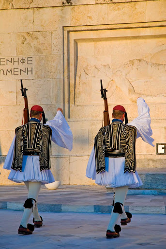 evzones-changing-of-guard-athens.jpg - See the Evzones in the changing of the guard ceremony every hour on the hour in Athens, Greece.