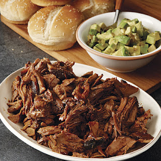 Honey-Balsamic Pulled Pork with Avocado Relish