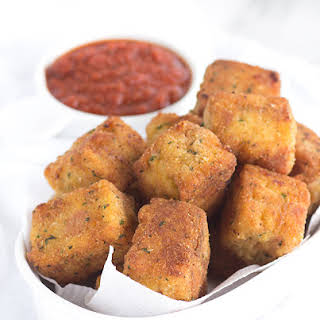 Fried Macaroni Pizza Poppers.