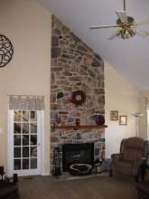 Photo: (Before) Romano's Stone Fireplace Horsham, PA