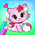 Flower Magic Color-kids coloring book with animals APK