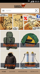 Fluchtrucksack.de- screenshot thumbnail