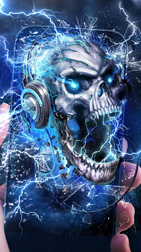 Electric Skull Live Wallpaper by 3D Theme & HD Live Wallpaper (Google Play, United States) - SearchMan App Data & Information