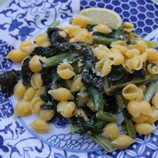 Brown Butter Pasta with Tatsoi.