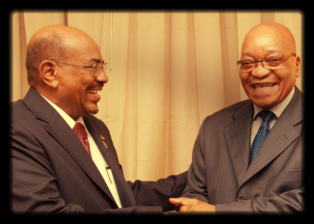 Omar al-Bashir and Jacob Zuma. Picture: GCIS